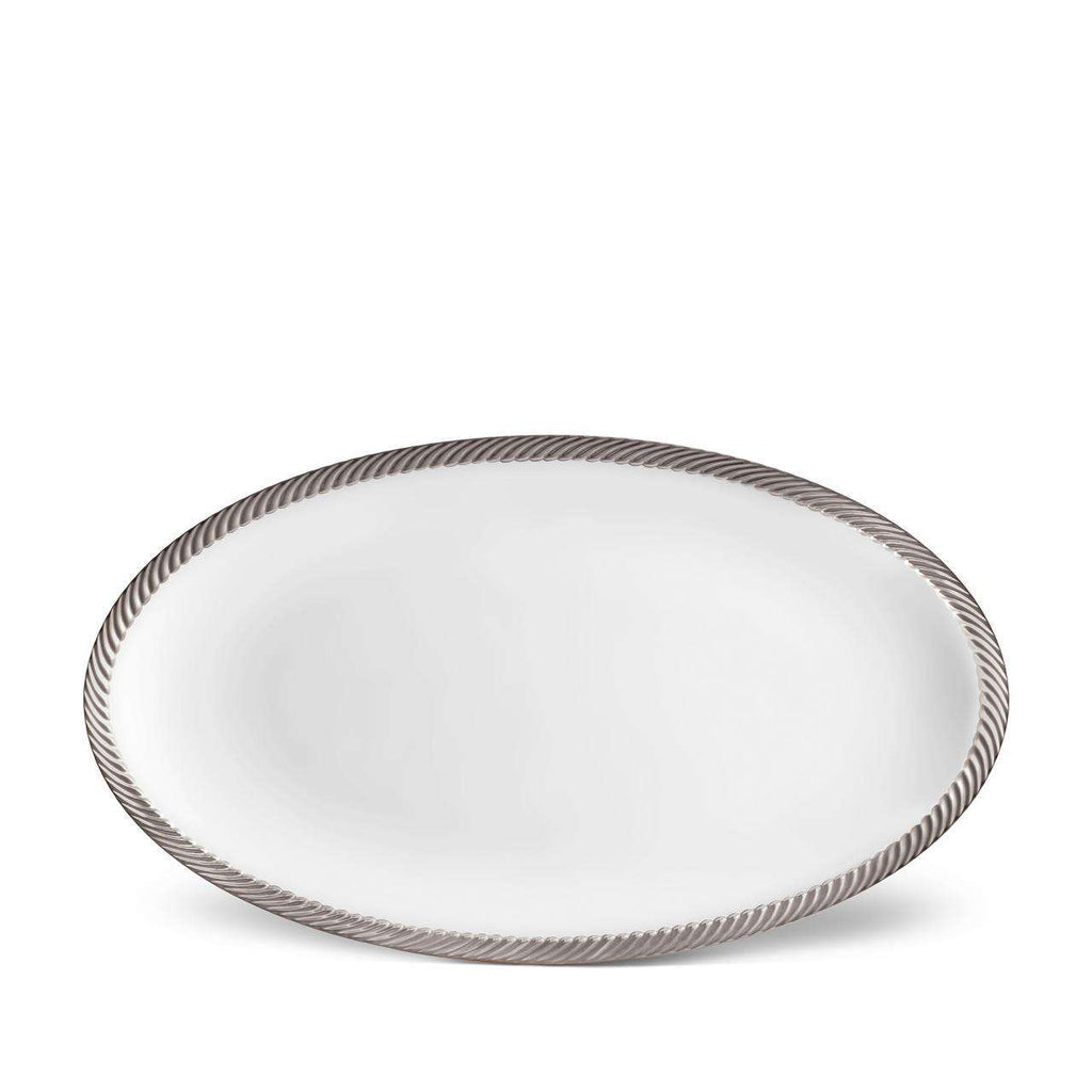 Corde Oval Platter - Large - Platinum - TERTIUS COLLECTION