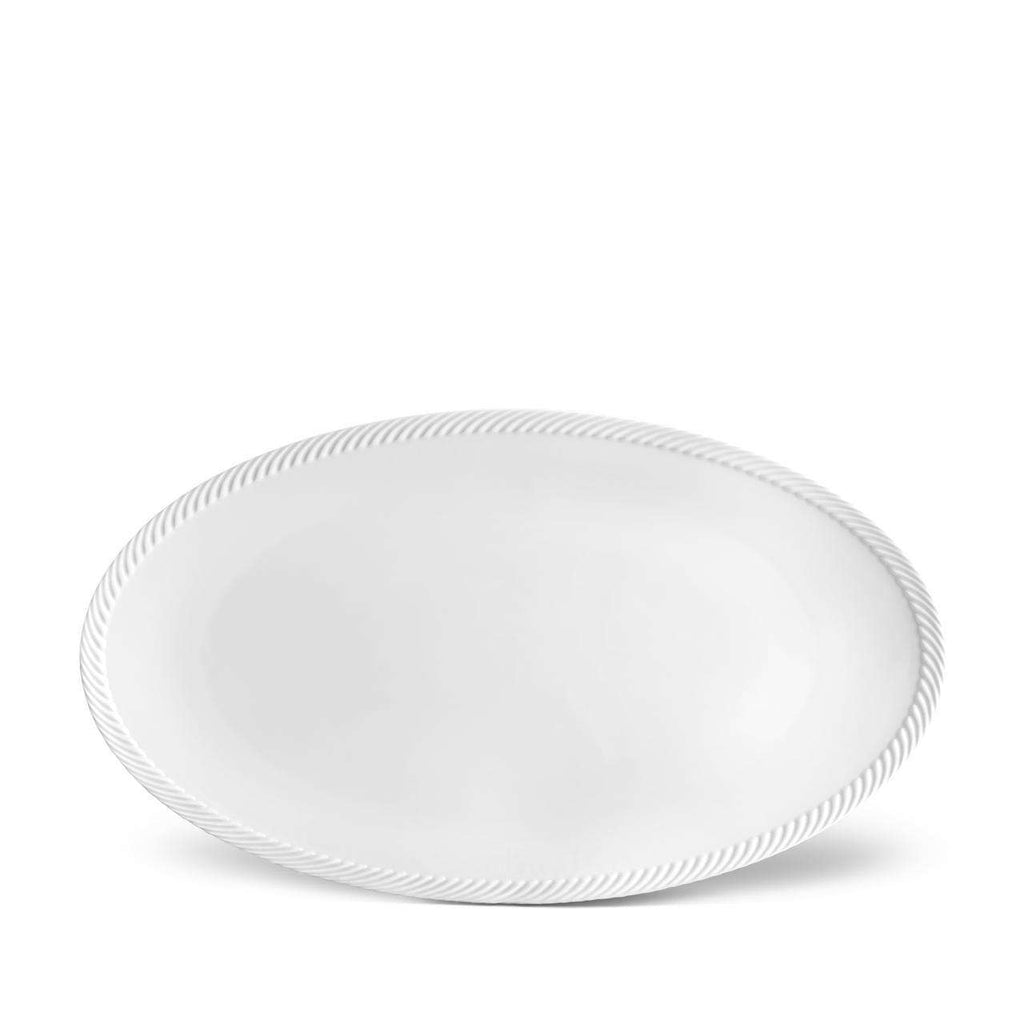 Corde Oval Platter - Large - White - TERTIUS COLLECTION
