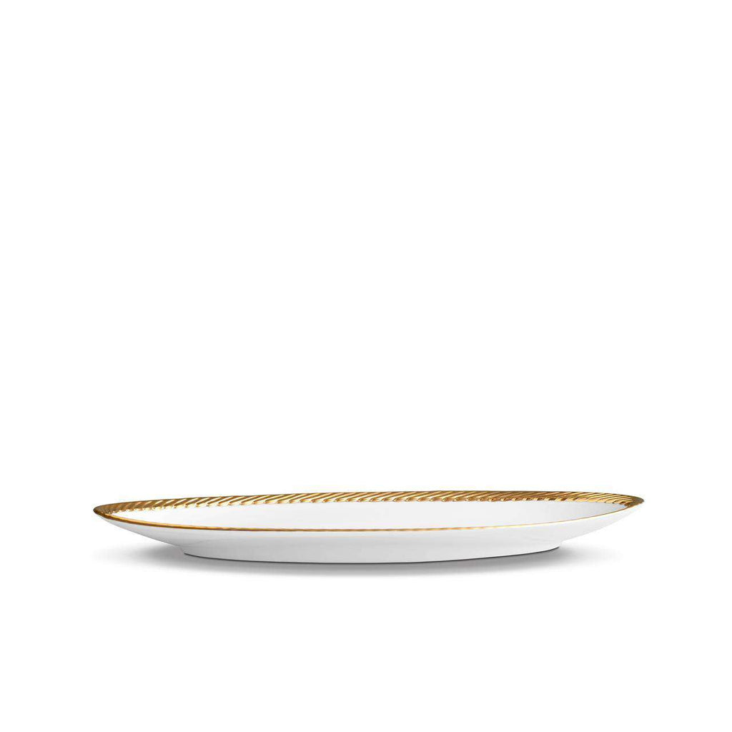 Corde Oval Platter - Small - Gold - TERTIUS COLLECTION