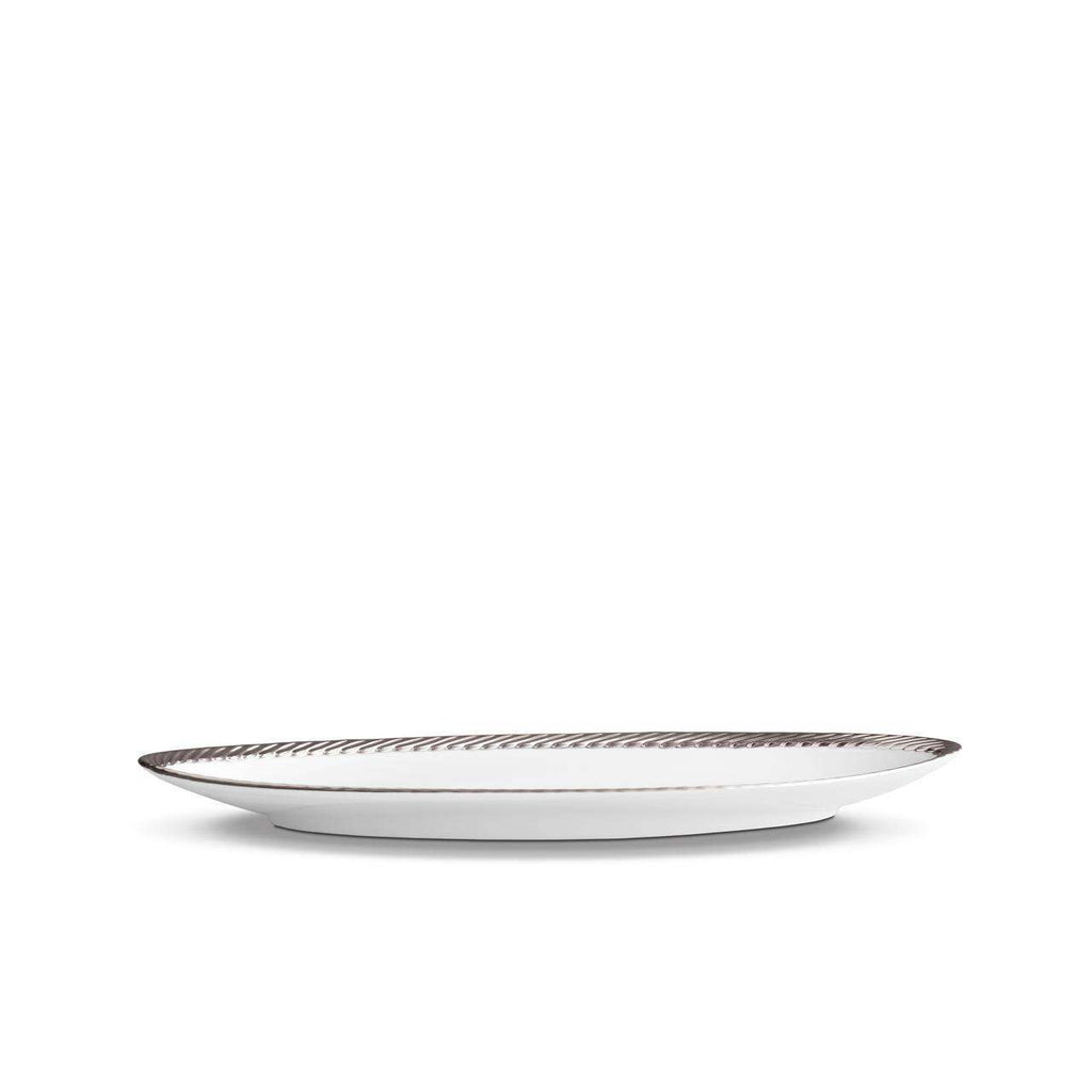 Corde Oval Platter - Small - Platinum - TERTIUS COLLECTION