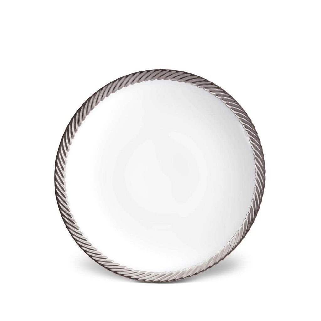 Corde Soup Plate - Platinum - TERTIUS COLLECTION