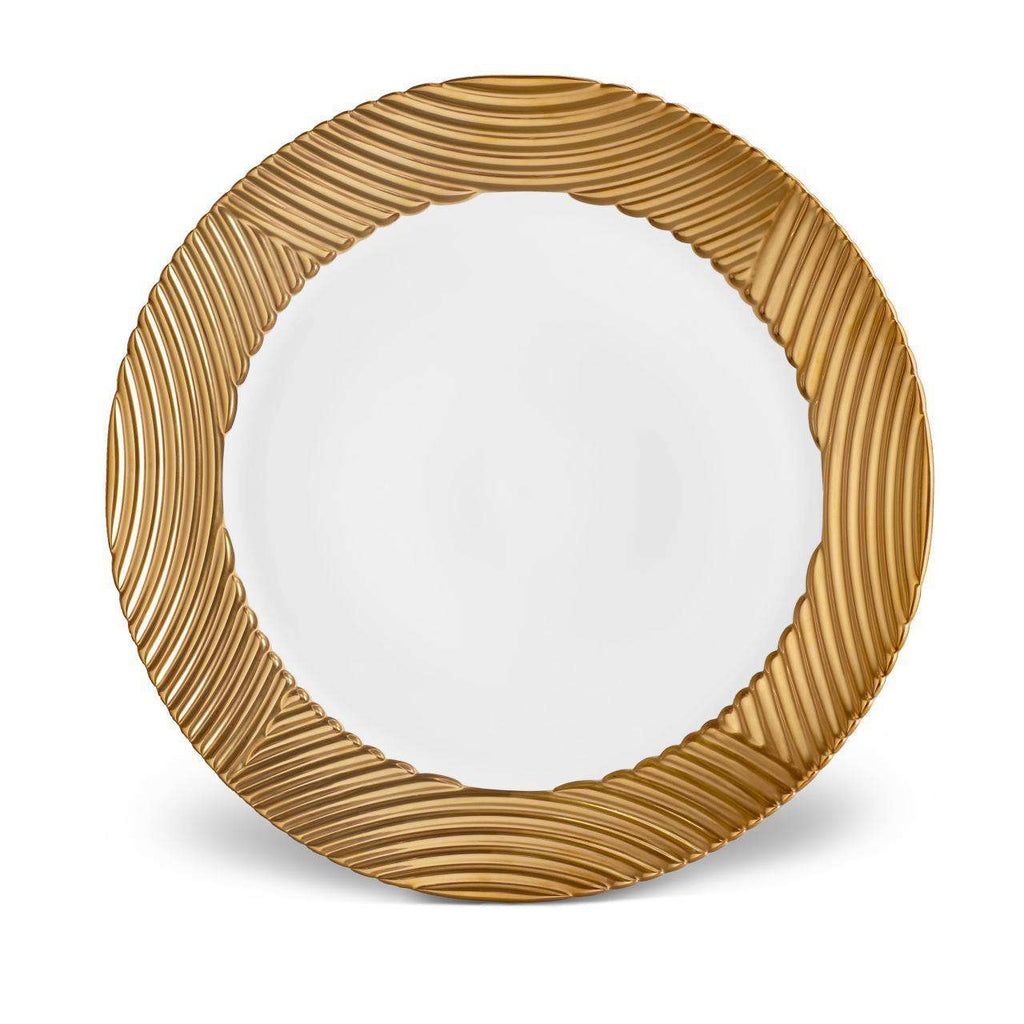 Corde Wide Rim Charger - Gold - TERTIUS COLLECTION