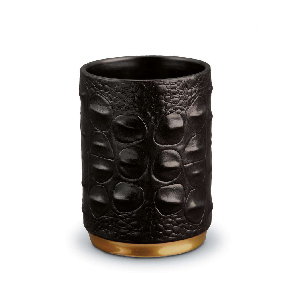 Crocodile Pencil Cup - Gold - TERTIUS COLLECTION