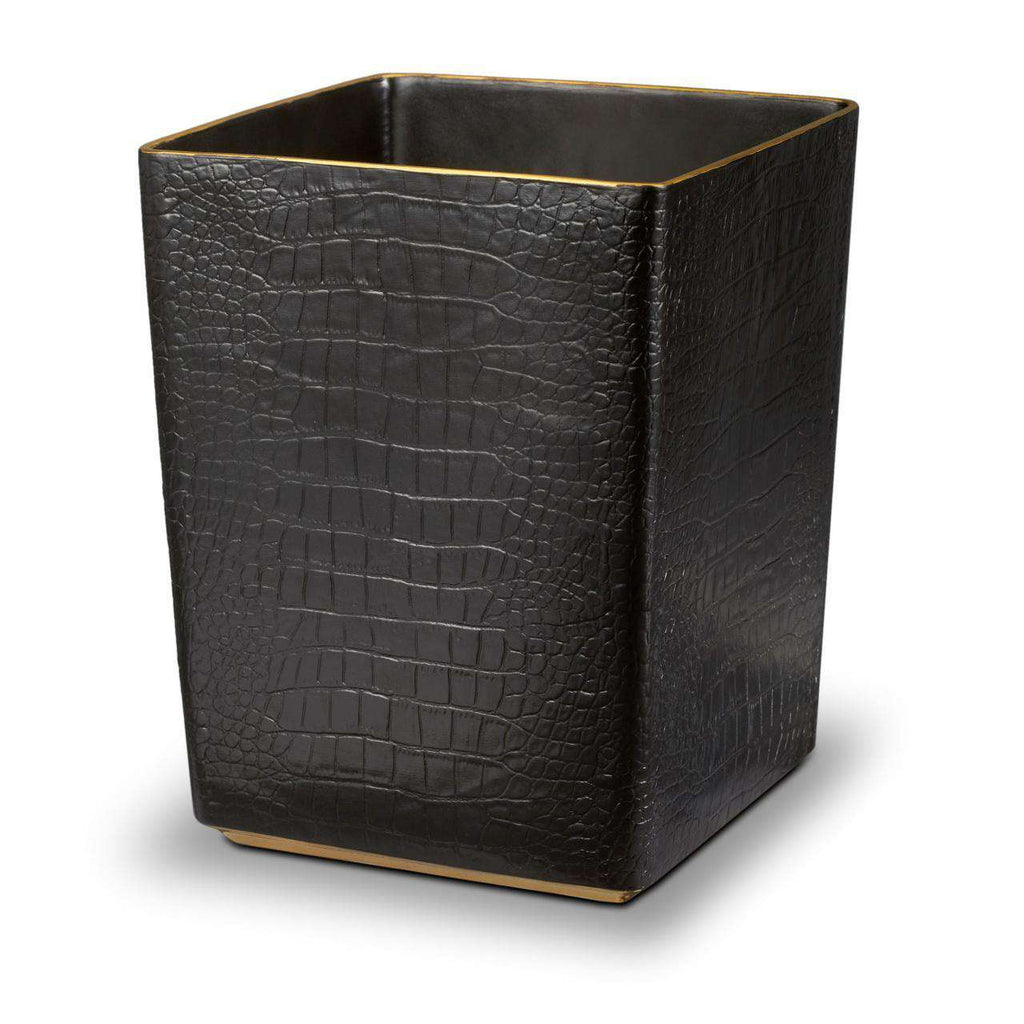 Crocodile Wastebasket - Gold - TERTIUS COLLECTION