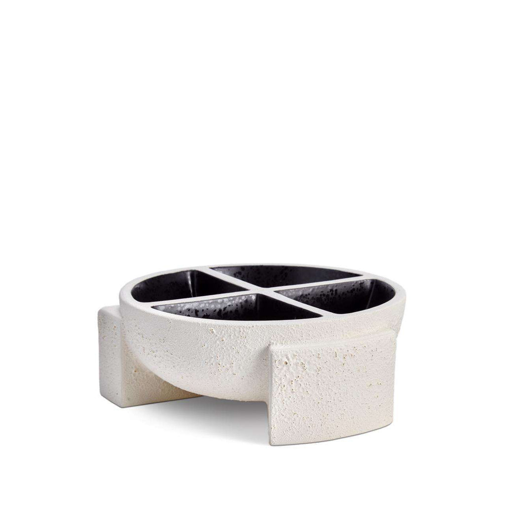 Cubisme Condiment Server - Black & White - TERTIUS COLLECTION