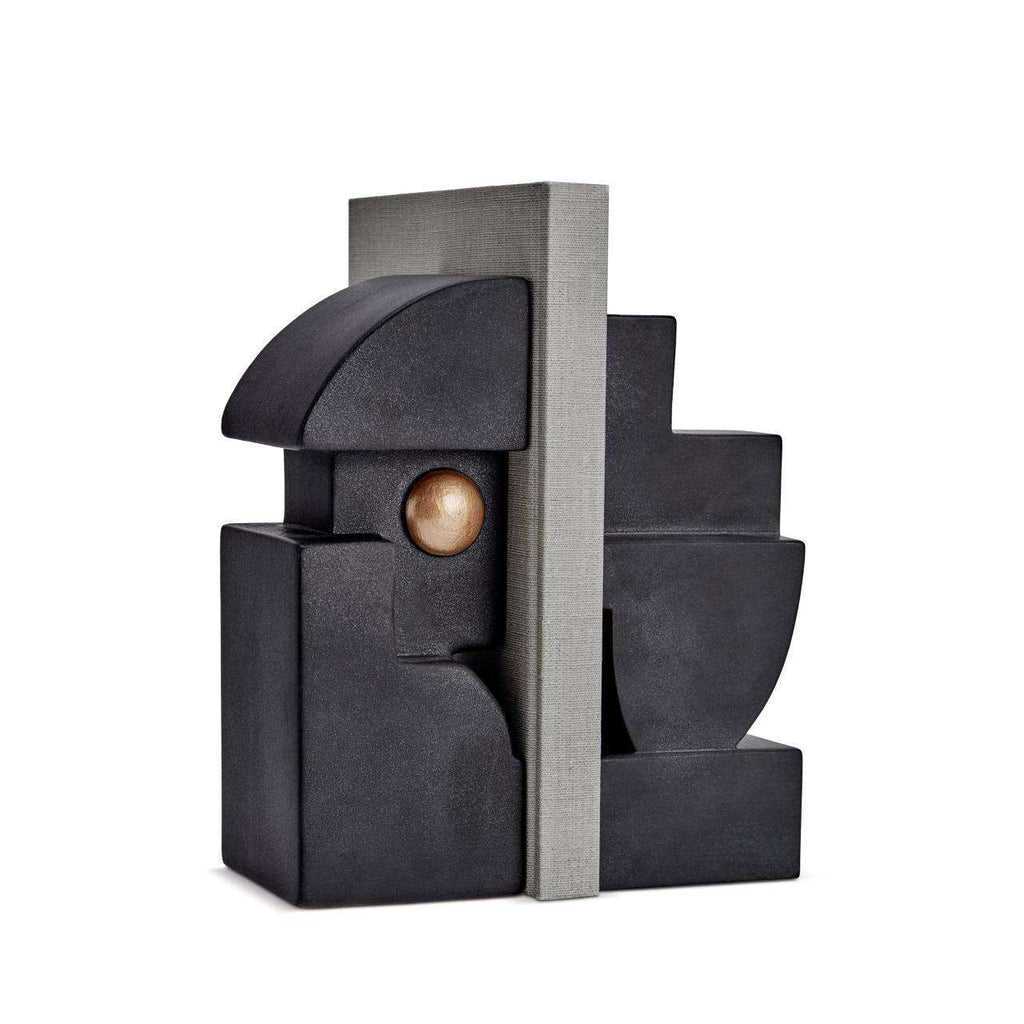 Cubisme One Bookend - Black & Gold - TERTIUS COLLECTION