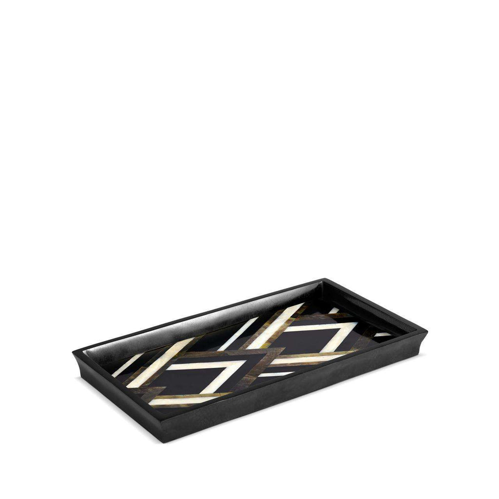 Deco Noir Tray - Black & White Natural Shells - TERTIUS COLLECTION