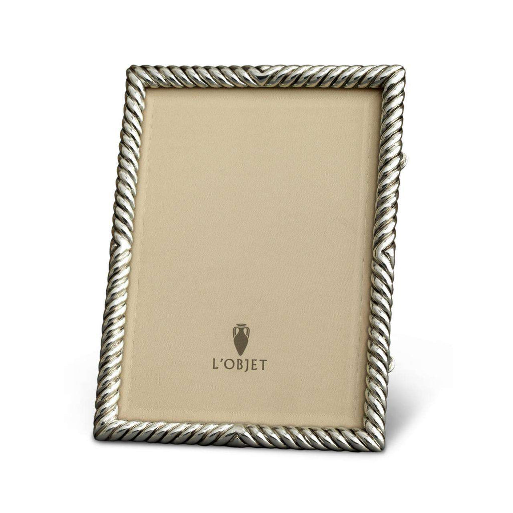 "Deco Twist Frame 5x7"" - Platinum - TERTIUS COLLECTION"