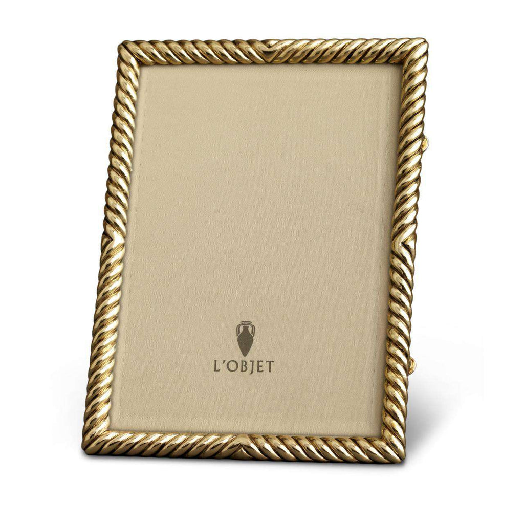 "Deco Twist Frame 8x10"" - Gold - TERTIUS COLLECTION"