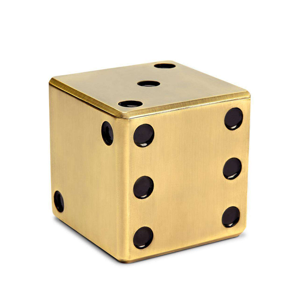 Dice Decorative Box - Gold - TERTIUS COLLECTION
