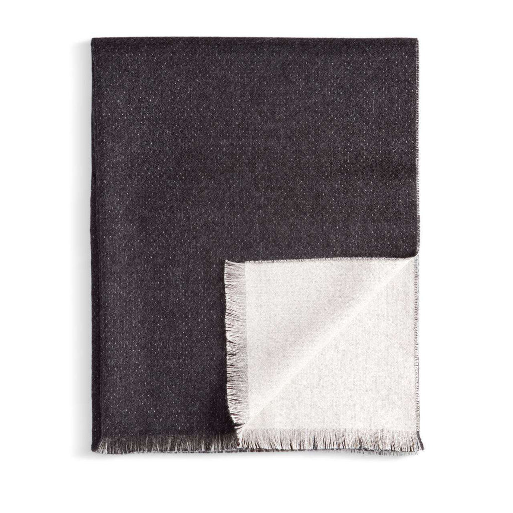 Double Face Throw - Black & White - TERTIUS COLLECTION
