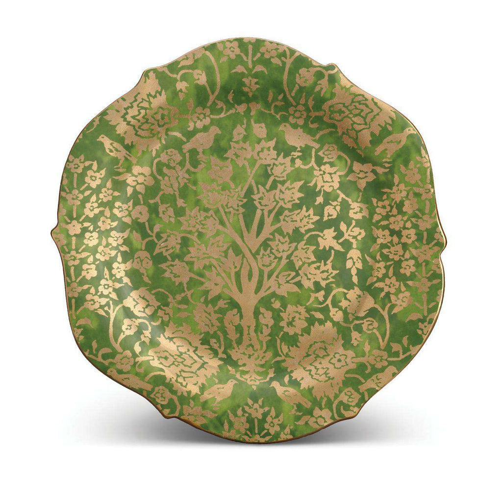 Fortuny Alberelli Round Platter - Large - Green - TERTIUS COLLECTION