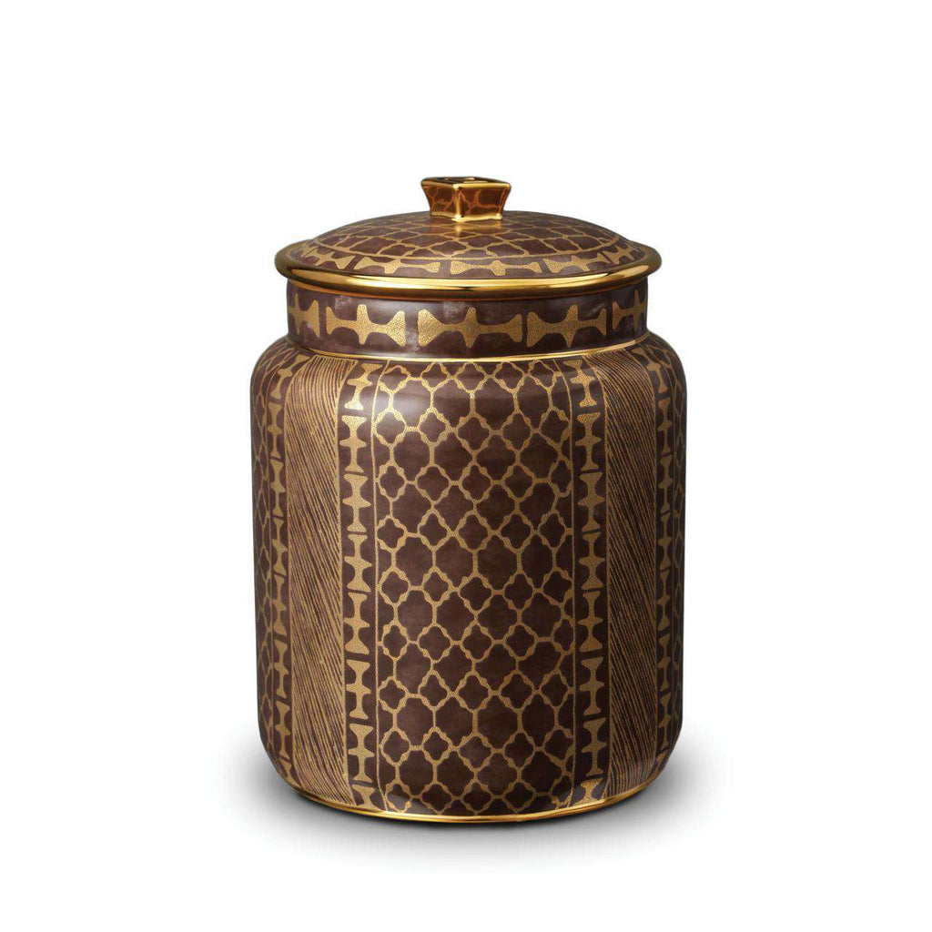 Fortuny Ashanti Canister - Medium - Grey - TERTIUS COLLECTION