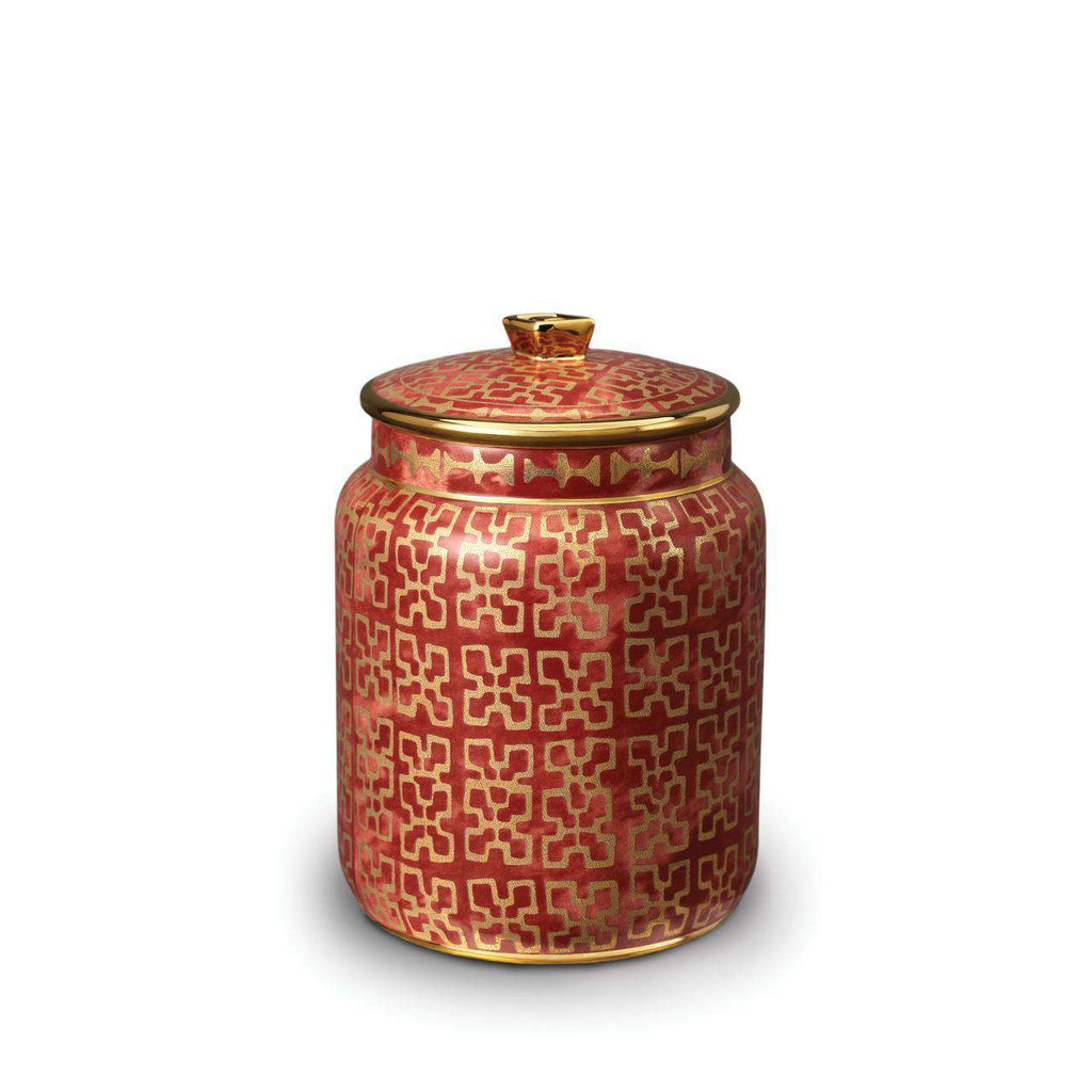 Fortuny Ashanti Canister - Small - Red - TERTIUS COLLECTION