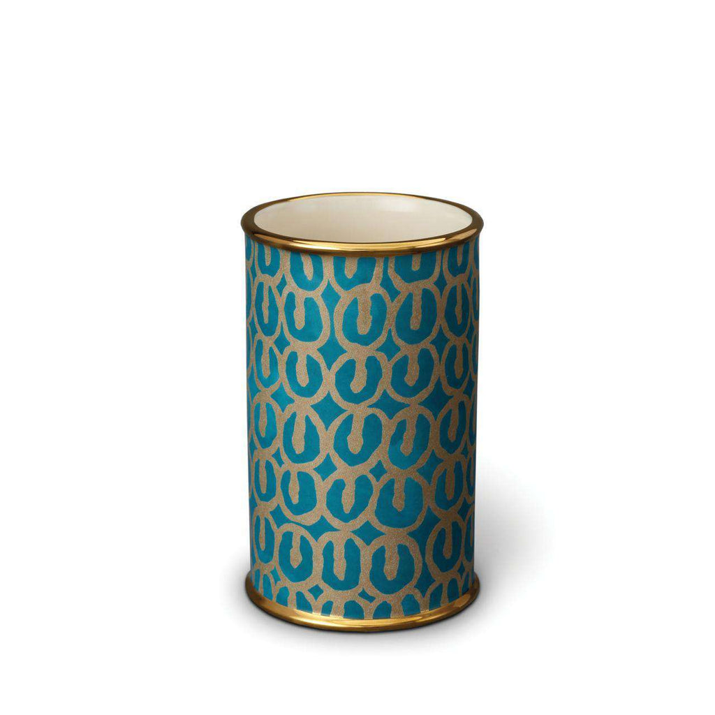 Fortuny Ashanti Vase - Small - Teal - TERTIUS COLLECTION