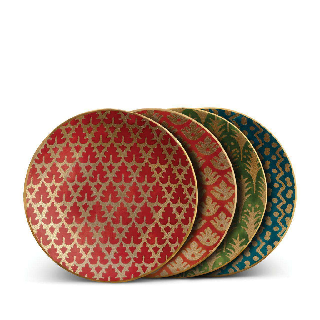 Fortuny Canape Plates - Red, Orange, Green, Teal - TERTIUS COLLECTION