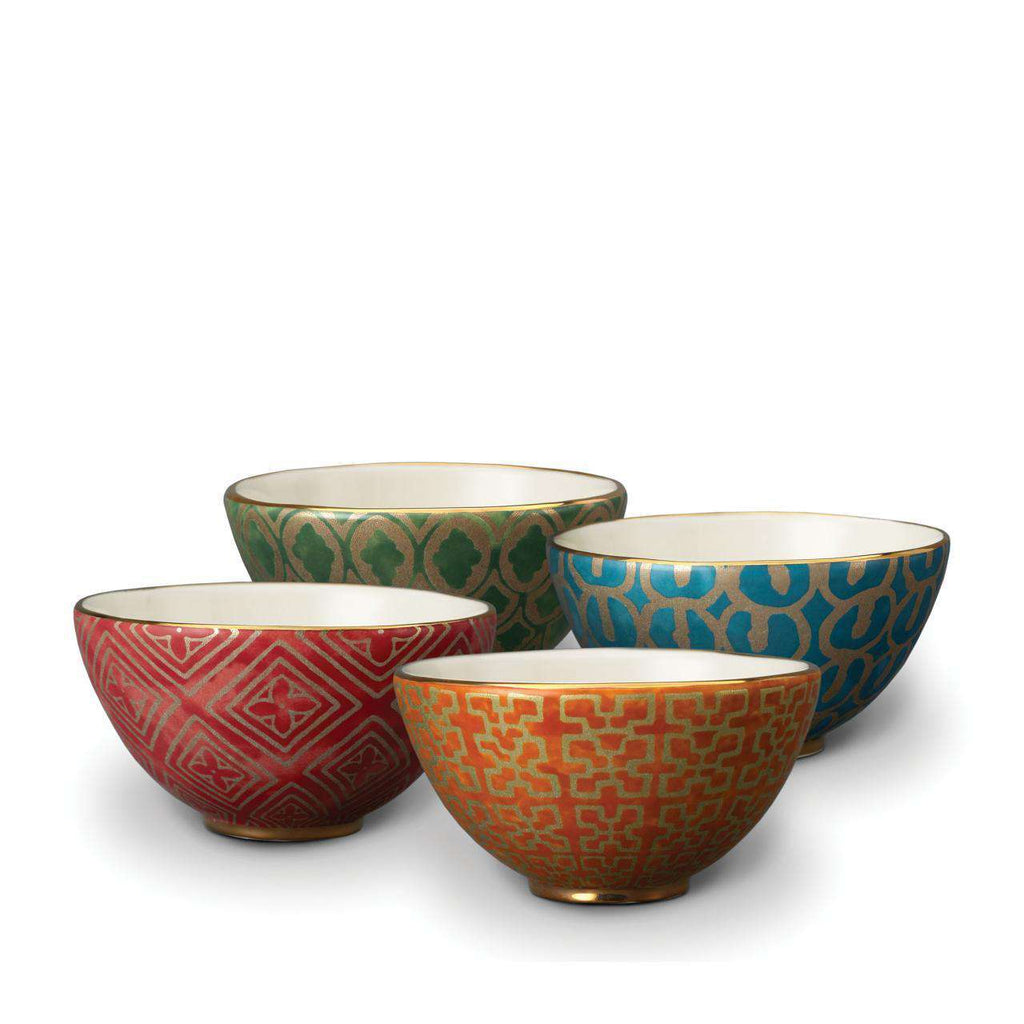 Fortuny Cereal Bowls - Red, Orange, Green, Teal - TERTIUS COLLECTION