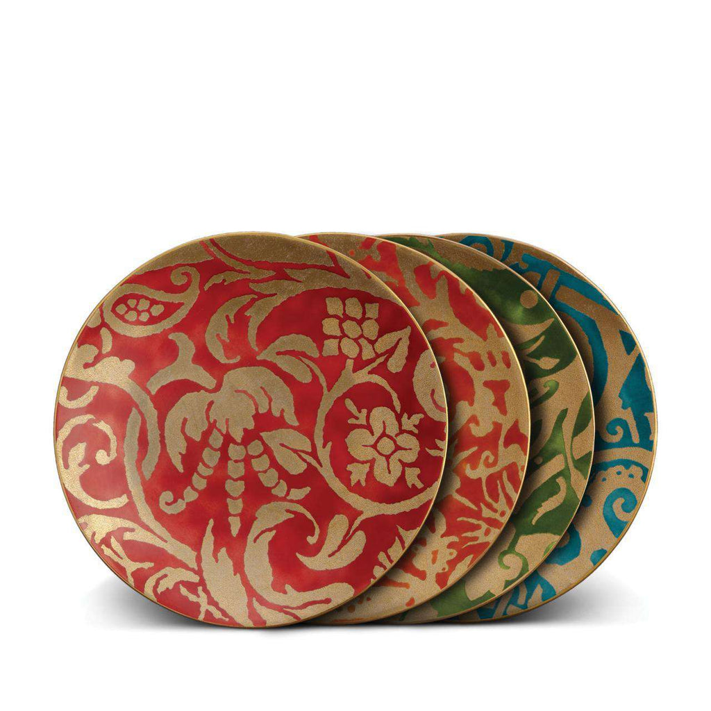 Fortuny Dessert Plates - Red, Orange, Green, Teal - TERTIUS COLLECTION