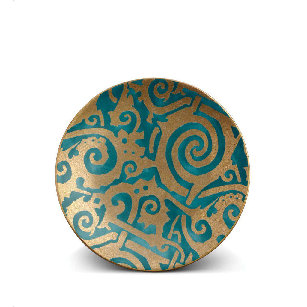 Fortuny Maori Dessert Plates - Teal - TERTIUS COLLECTION