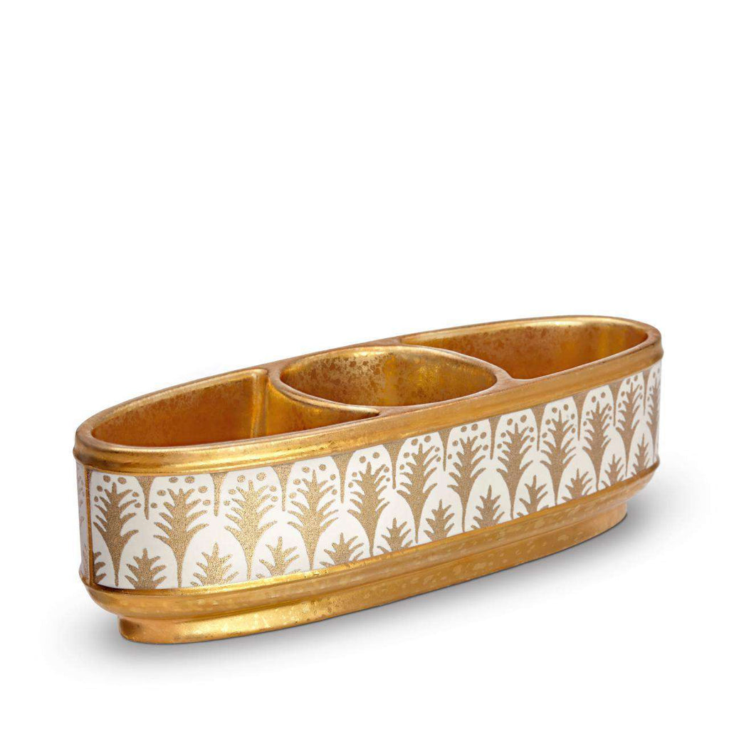 Fortuny Piumette Condiment Dish - White & Gold - TERTIUS COLLECTION