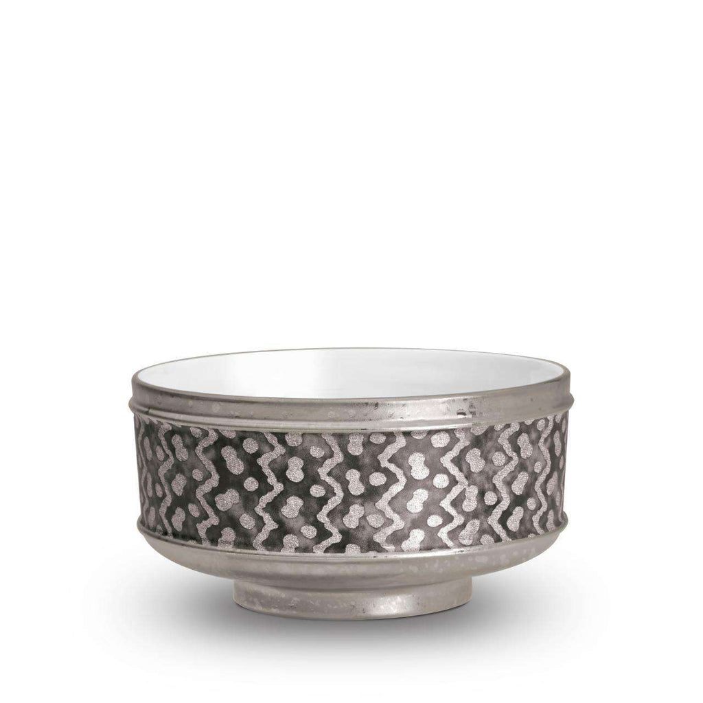 Fortuny Tapa Cereal Bowls - Black & Platinum - TERTIUS COLLECTION