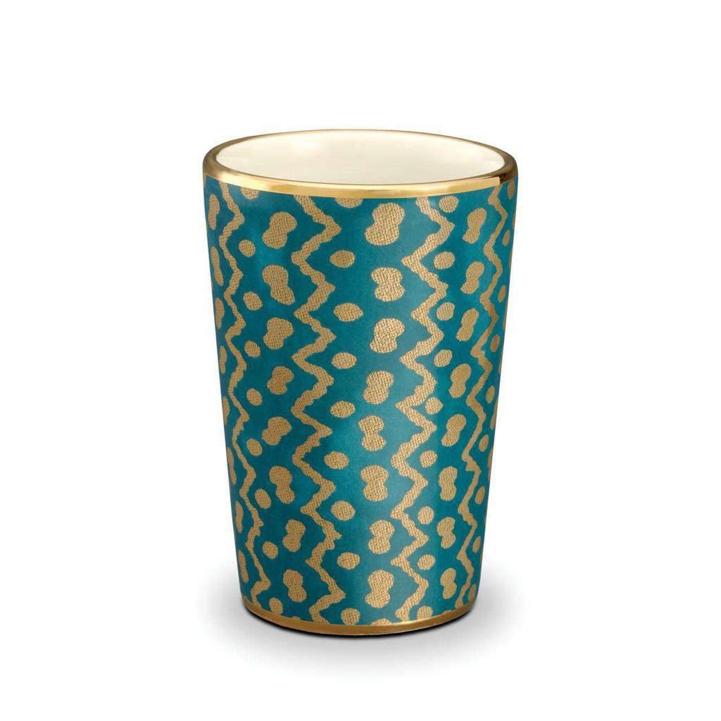 Fortuny Tapa Tumblers - Teal - TERTIUS COLLECTION