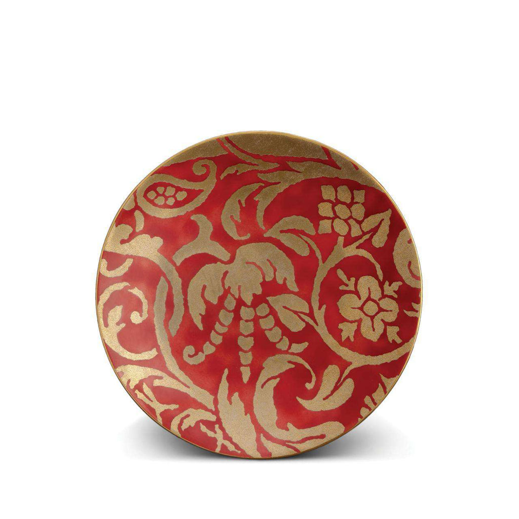 Fortuny Uccelli Dessert Plates - Red - TERTIUS COLLECTION
