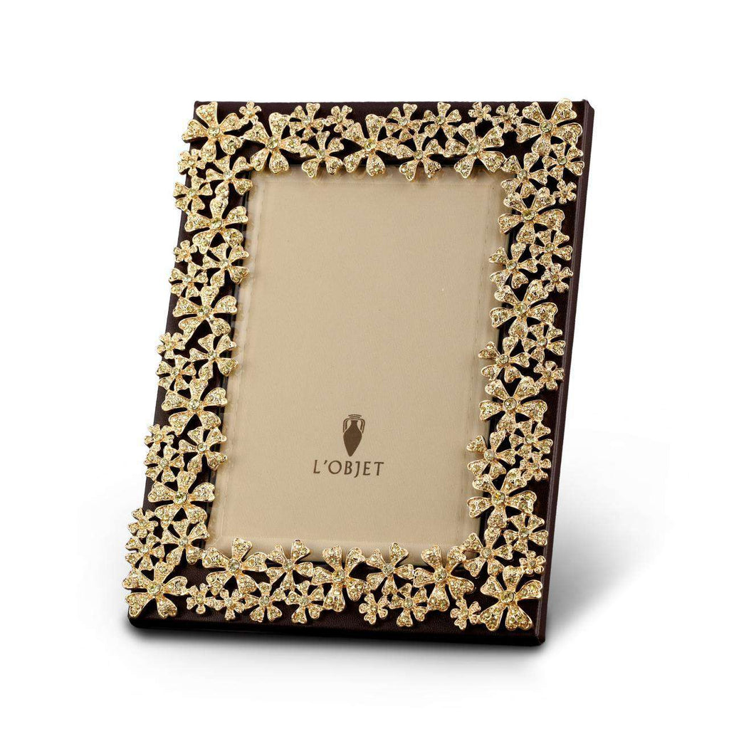"Garland Frame 5x7"" - Gold & Yellow Crystals - TERTIUS COLLECTION"