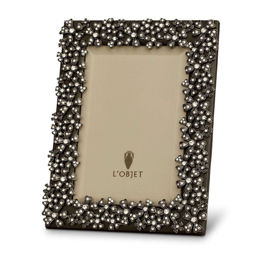 "Garland Frame 8x10"" - Noir & White Crystals - TERTIUS COLLECTION"