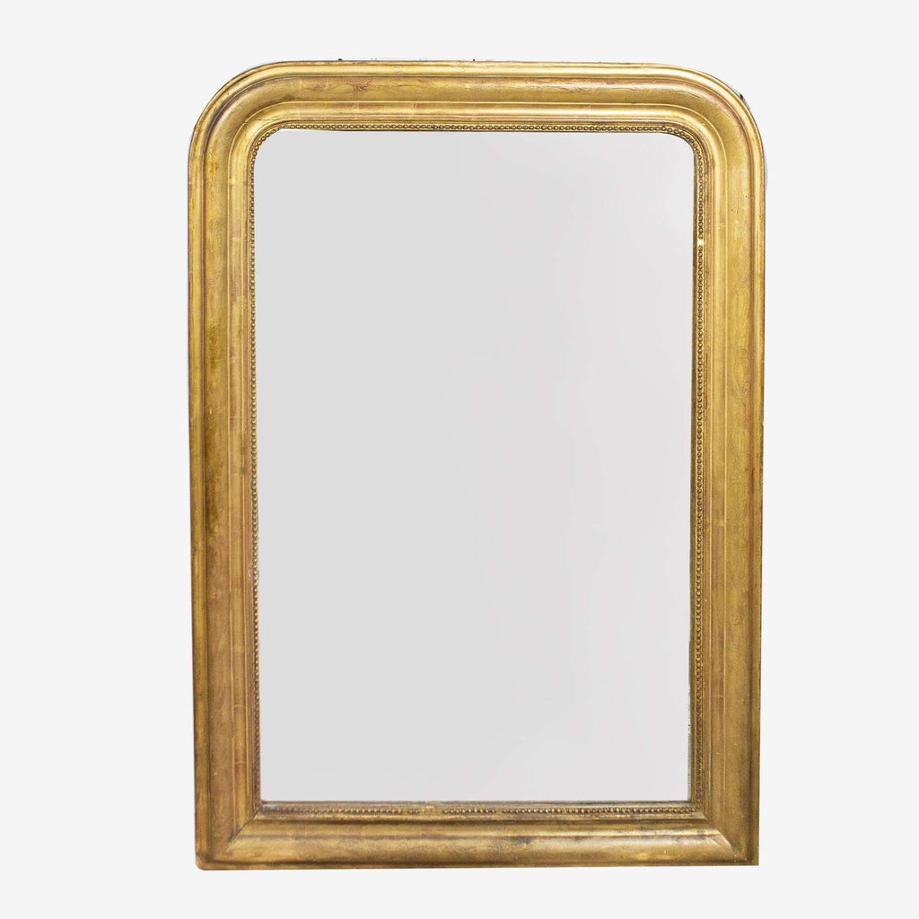 Gilded Mirror with Etching - TERTIUS COLLECTION