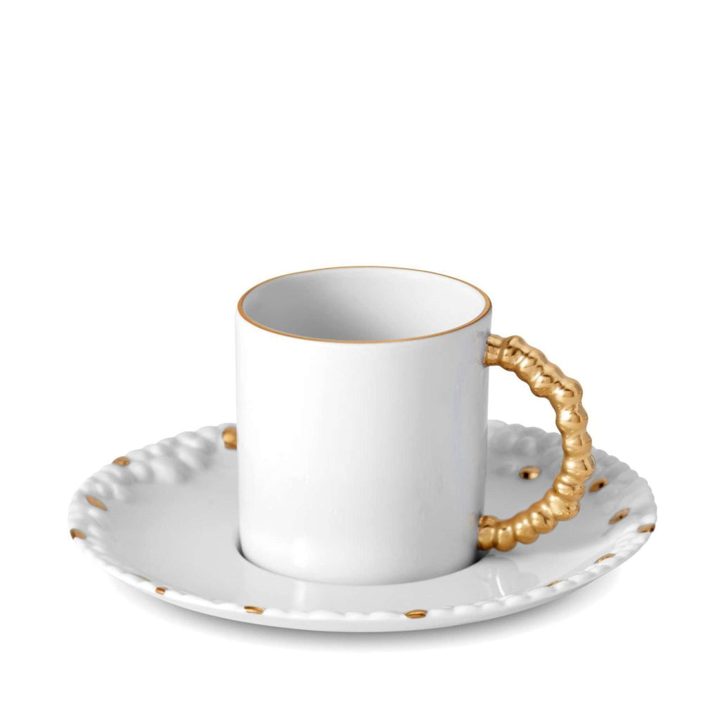 Haas Mojave Espresso Cup & Saucer - Gold - TERTIUS COLLECTION