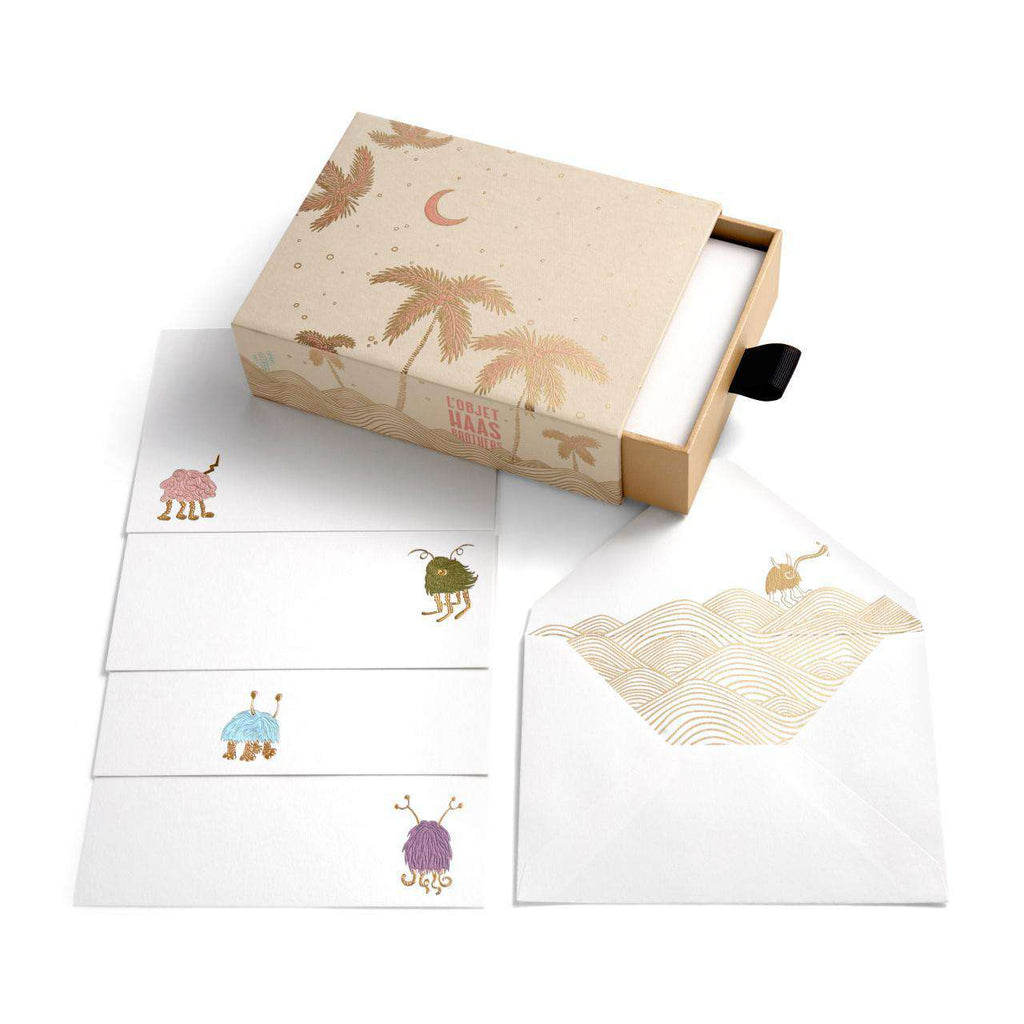 Haas Stationery Box - Beige - TERTIUS COLLECTION