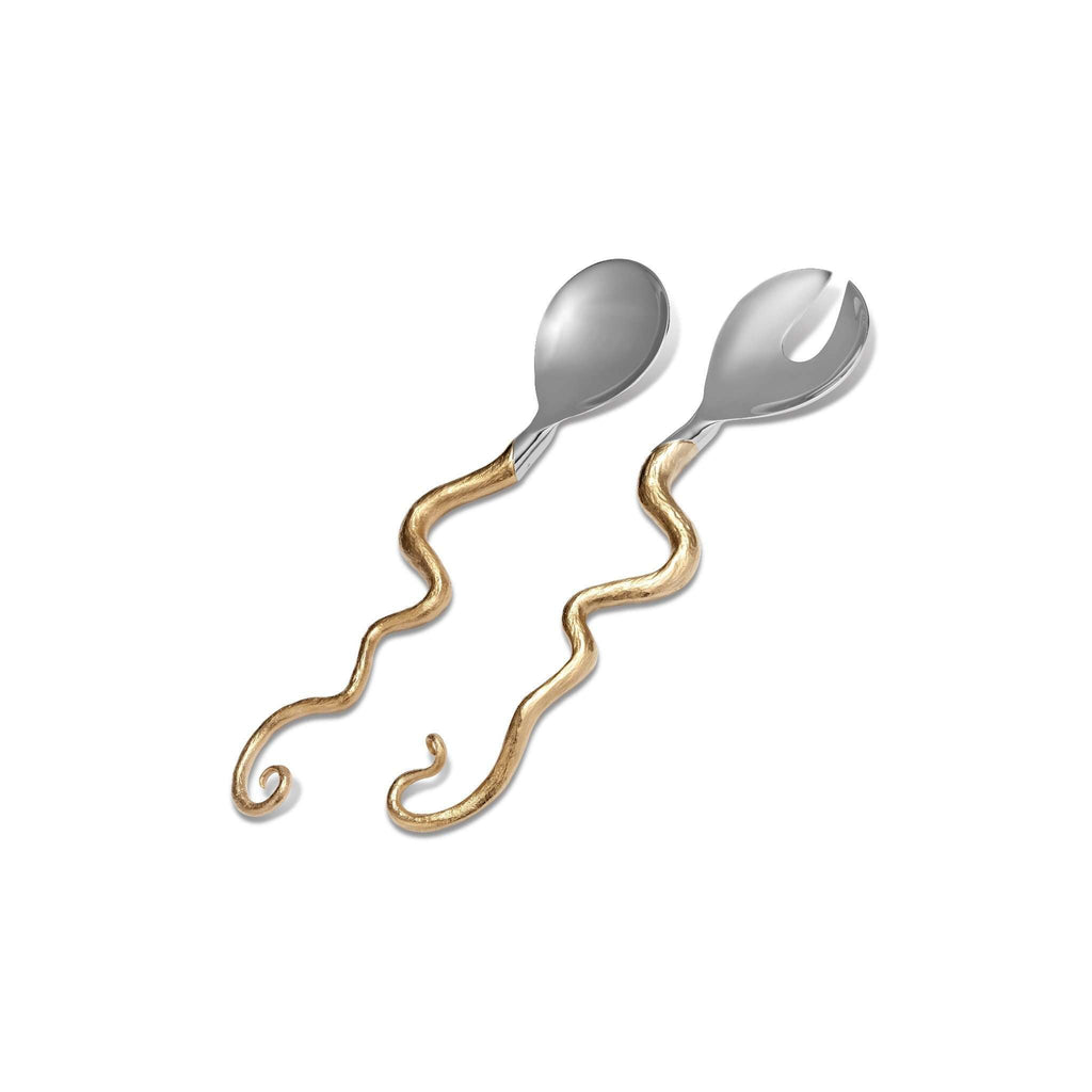 Haas Twisted Horn Serving Set - Gold - TERTIUS COLLECTION