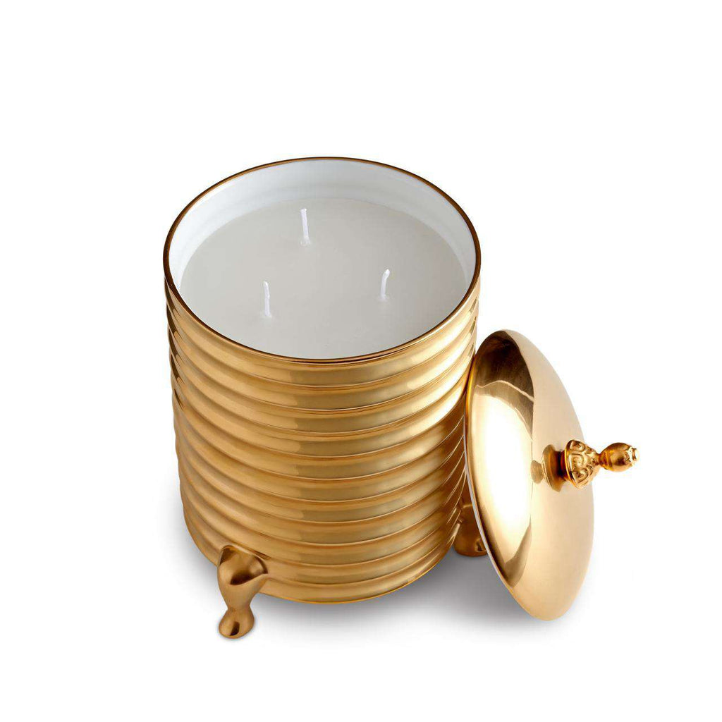 Han Candle 3-wick - Medium - Gold - TERTIUS COLLECTION