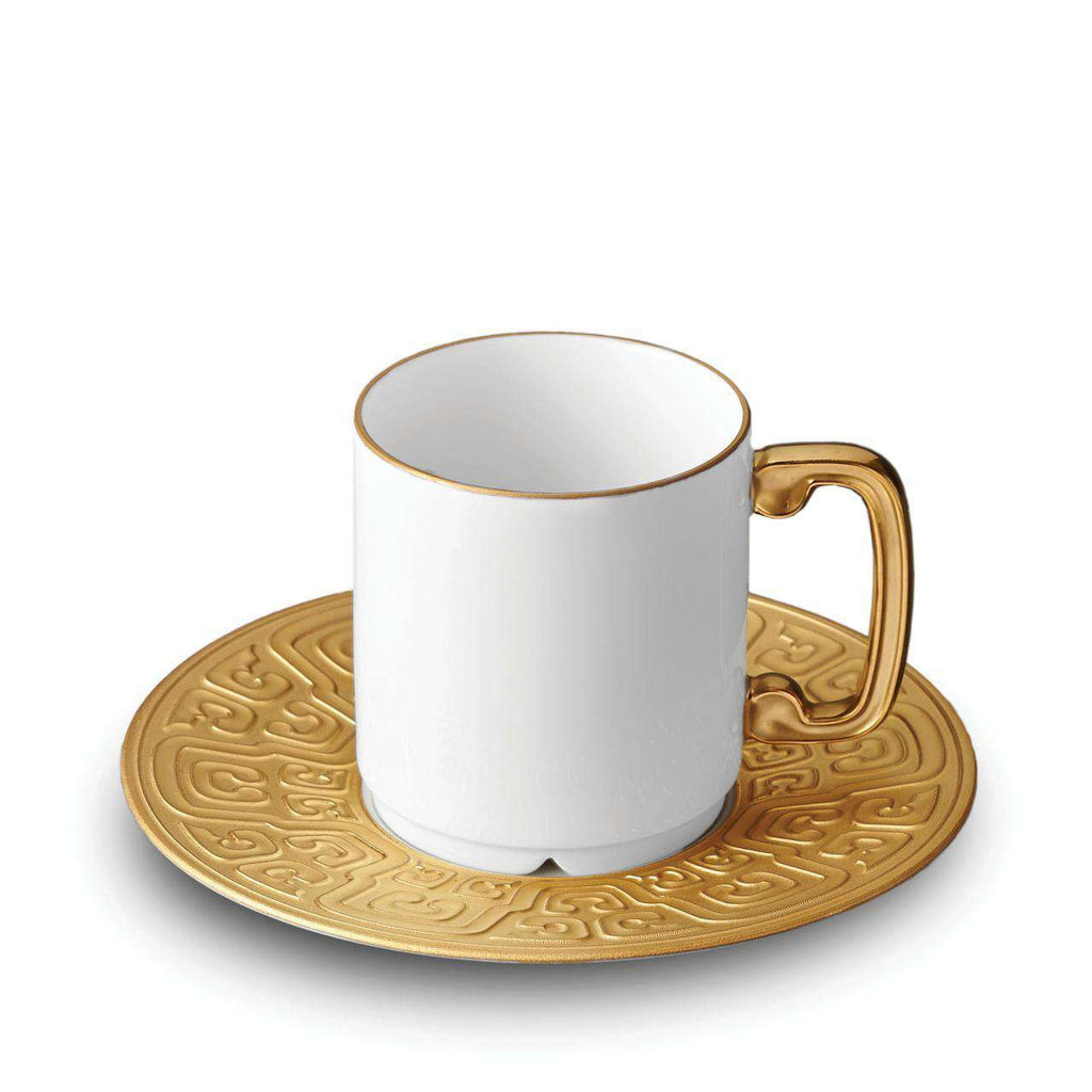 Han Espresso Cup & Saucer - Gold - TERTIUS COLLECTION
