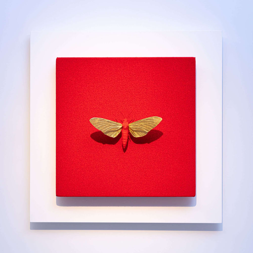 Hawk Moth Sculpture - Anatomia Red - TERTIUS COLLECTION