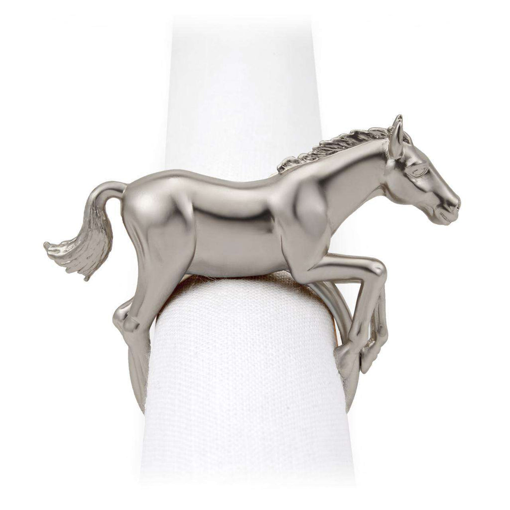 Horse Napkin Jewels - Platinum - TERTIUS COLLECTION