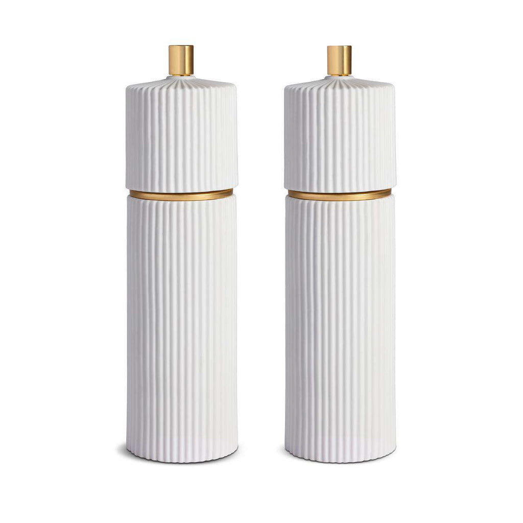 Ionic Salt & Pepper Mills - Large - White - TERTIUS COLLECTION