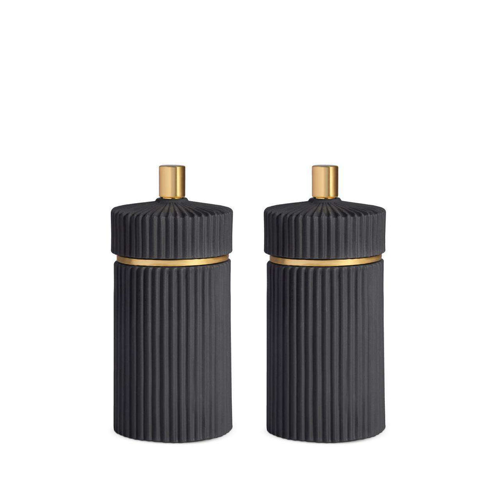 Ionic Salt & Pepper Mills - Small - Black - TERTIUS COLLECTION