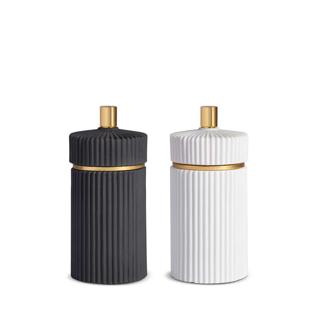 Ionic Salt & Pepper Mills - Small - Black & White - TERTIUS COLLECTION