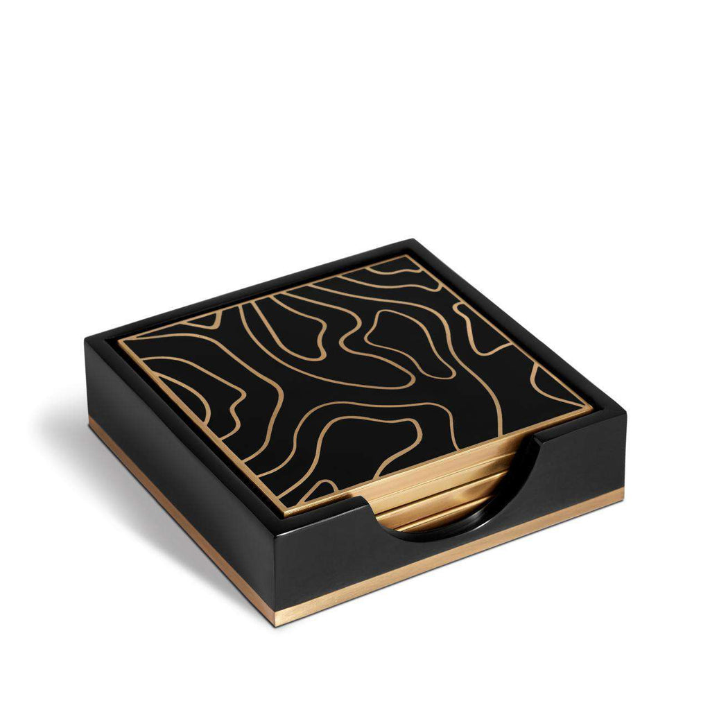 Isles Coasters - Black & Gold - TERTIUS COLLECTION