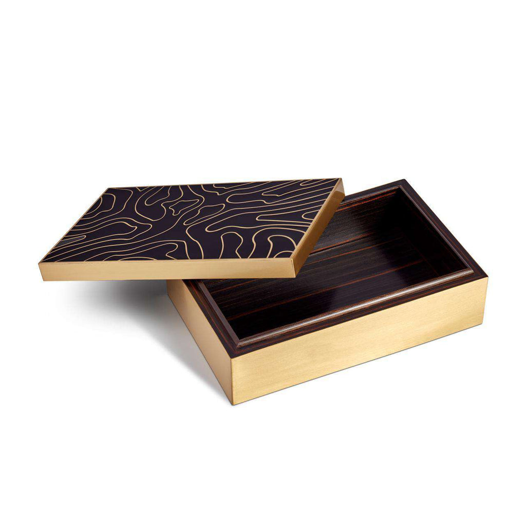 Isles Rectangular Box - Black & Gold - TERTIUS COLLECTION