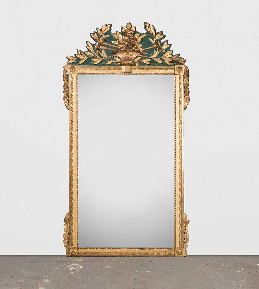 Large Green Trumeau Mirror - TERTIUS COLLECTION