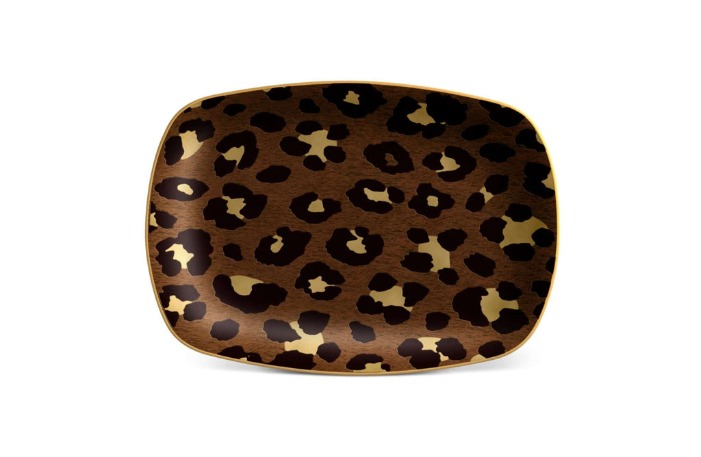 Leopard Rectangular Tray - Small - TERTIUS COLLECTION