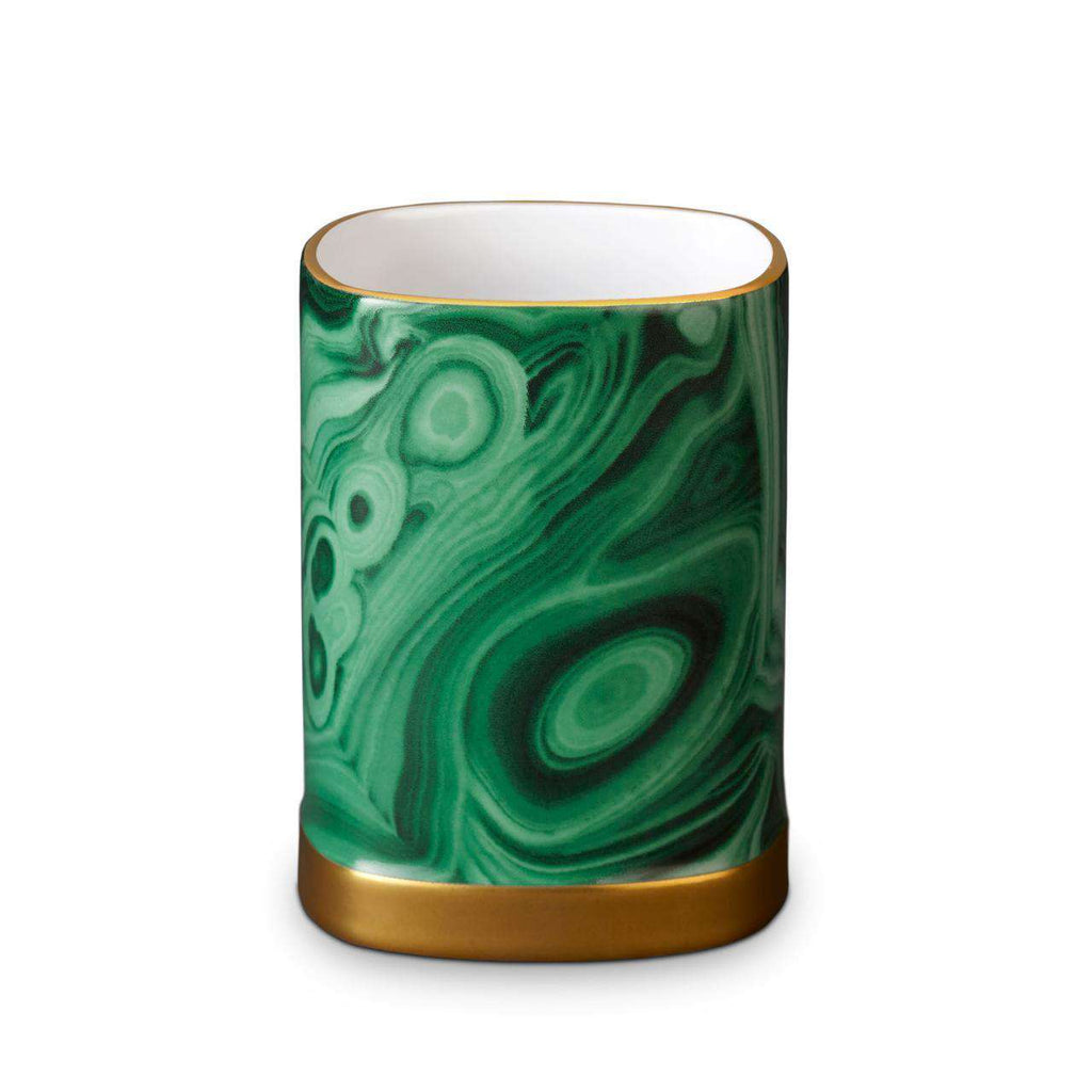 Malachite Pencil Cup - TERTIUS COLLECTION