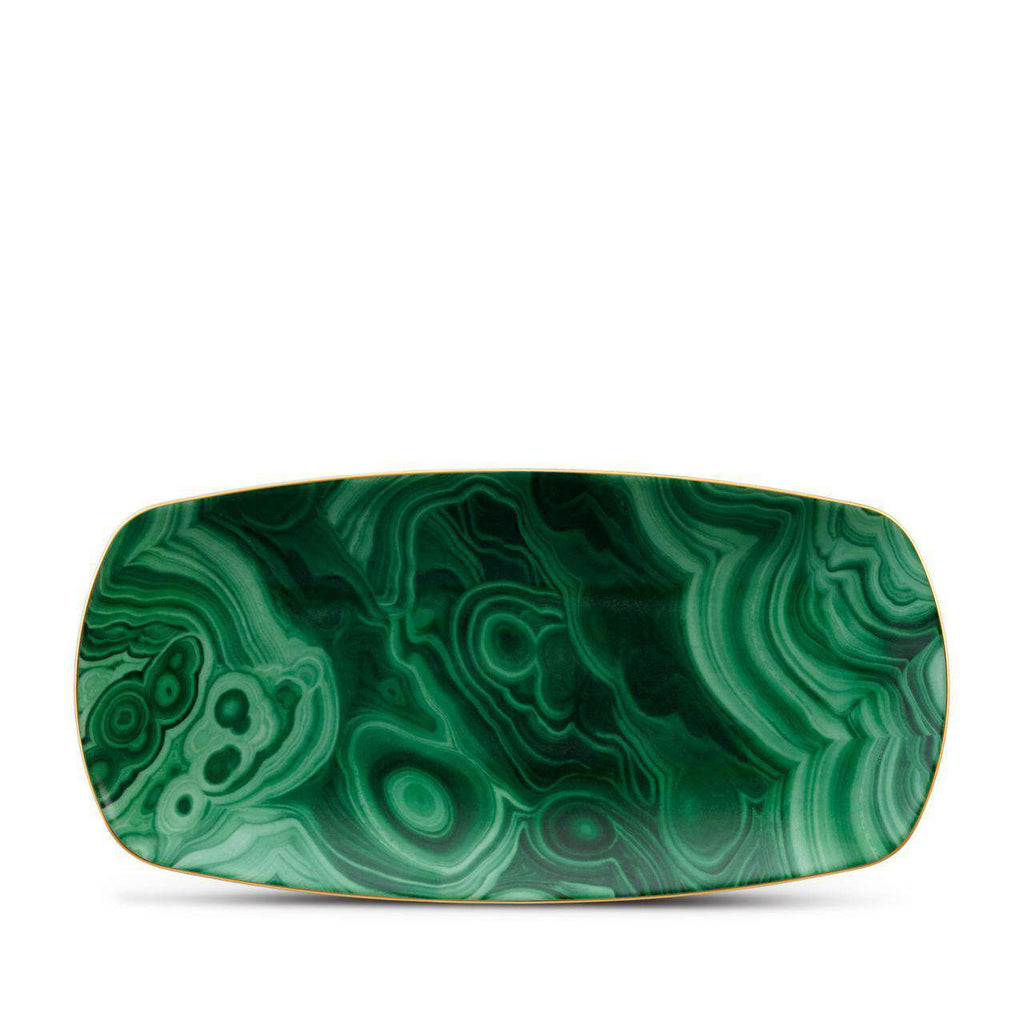 Malachite Rectangular Tray - Medium - Green - TERTIUS COLLECTION