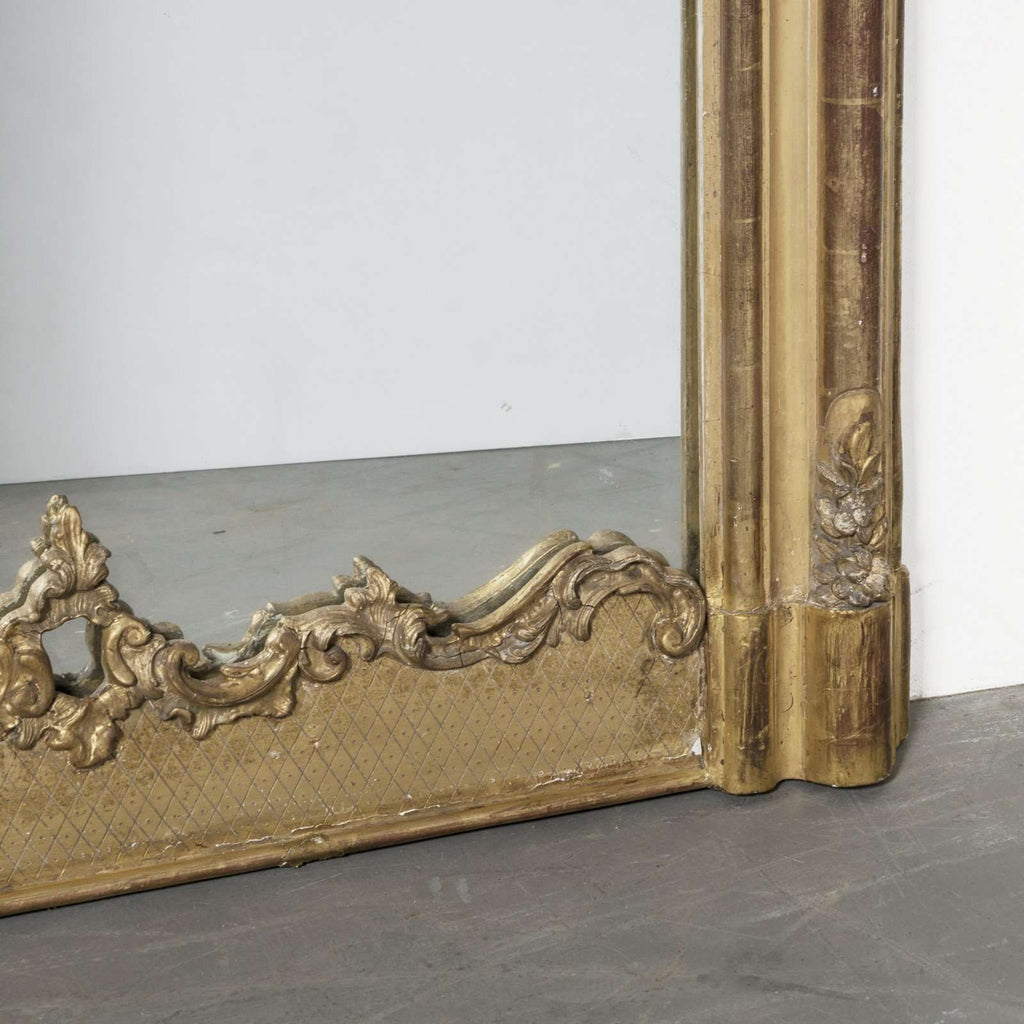 Mirror with Shell and Flower Guirlande - TERTIUS COLLECTION
