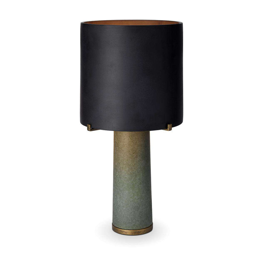 Pakal Table Lamp - Black & Green - TERTIUS COLLECTION