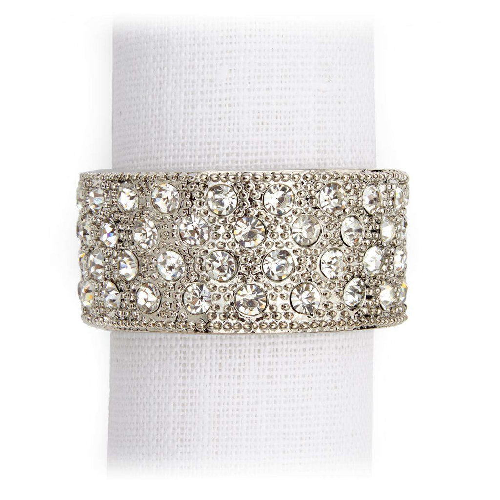 Pave Band Napkin Jewels - Platinum - TERTIUS COLLECTION