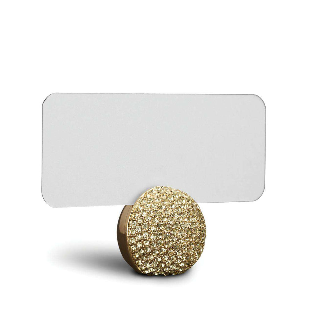 Pave Sphere Place Card Holders - Gold - TERTIUS COLLECTION